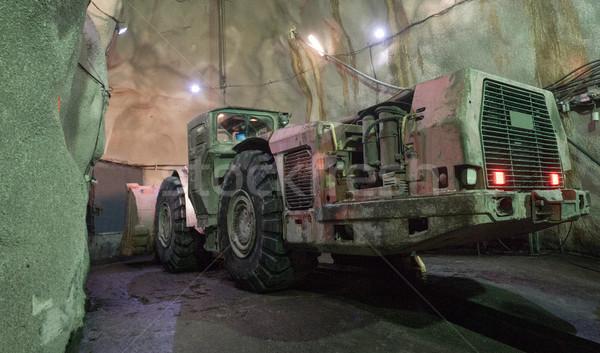 Excavator Huge Machine Under Ground Stock photo © vilevi