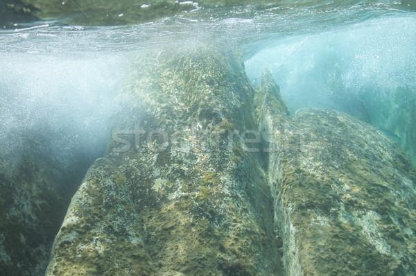 wallpaper background sea underwater rocks Stock photo © vilevi