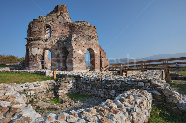Ruins Red Church Bulgaria Stock photo © vilevi