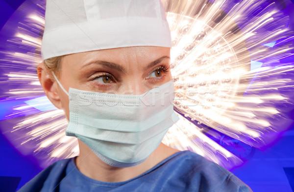 Luce lampada chirurgia ospedale Foto d'archivio © vilevi