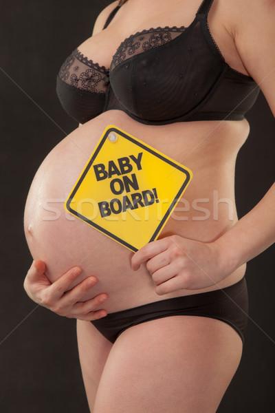 Bebé bordo embarazo embarazadas femenino torso Foto stock © vilevi