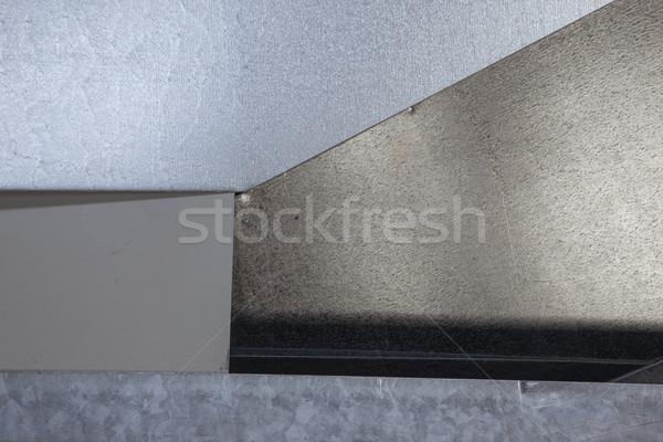 частей гальванизированный лист металл копия пространства Сток-фото © vilevi