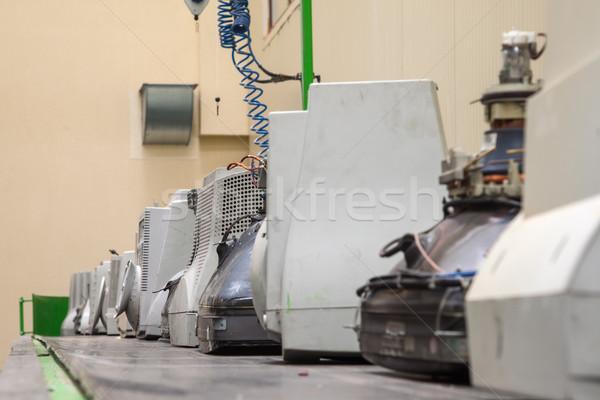 Disassembly Line Old Monitors Scrap Stock photo © vilevi