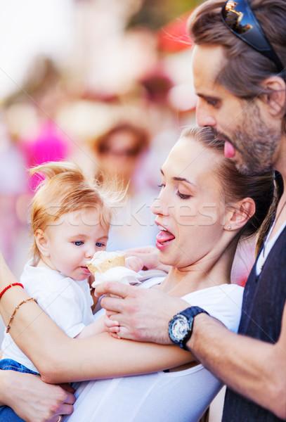Ice cream baby family Stock photo © vilevi