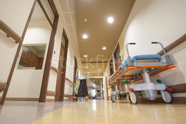 Hospital Corridor Litter Bed Stock photo © vilevi