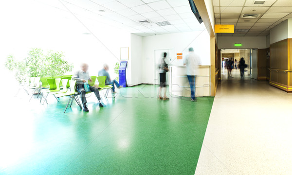 Hospital corridor reception Stock photo © vilevi