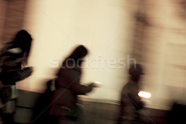 Gyertyák emberek gyász remény ünneplés bánat Stock fotó © vilevi