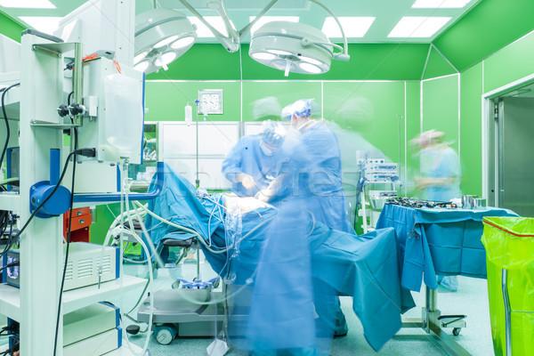 Cirurgia hospital equipe médicos movimento turva Foto stock © vilevi