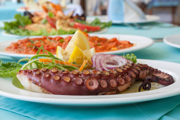 Meal Tentacle Octopus Stock photo © vilevi