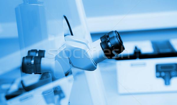 binocular microscope lab clinical Stock photo © vilevi