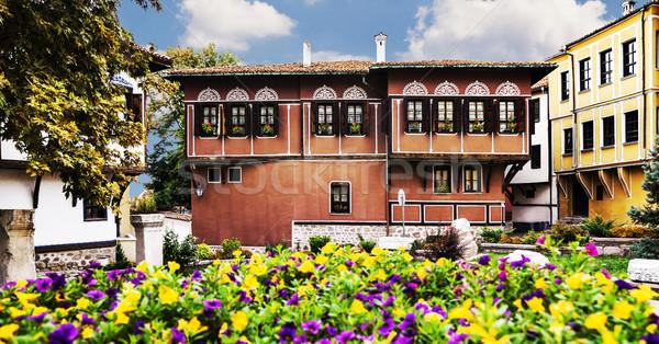 Eski evler kültürel miras Bulgaristan Stok fotoğraf © vilevi