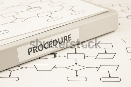 Stock photo: Business policies and procedures, sepia tone