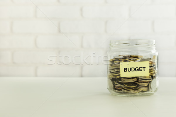 Budgétaire argent économies bancaires compte pièces Photo stock © vinnstock