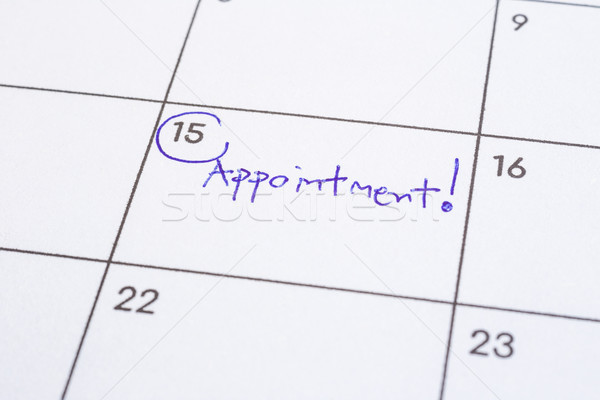 Mark event day with the word Appointment on calendar. Stock photo © vinnstock