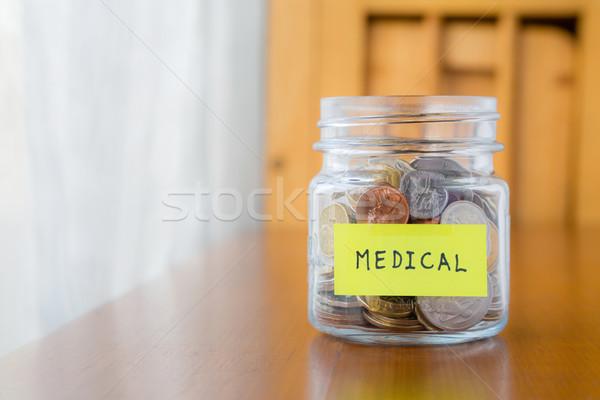 Medycznych oszczędności plan szkła banku wiele Zdjęcia stock © vinnstock