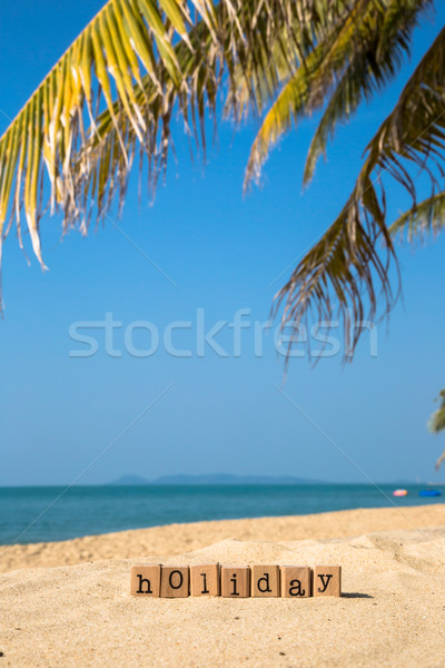 Sunny beach and summer holiday season sign   Stock photo © vinnstock