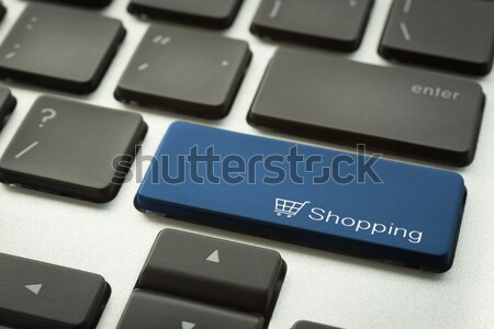 Computer keyboard with typographic Shortcut button Stock photo © vinnstock