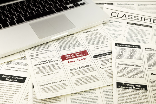 newspaper with advertisements and classifieds ads Stock photo © vinnstock