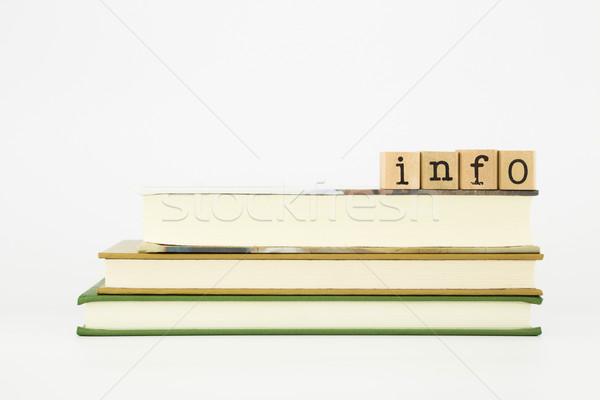 Info Wort Holz Briefmarken Pfund Stock foto © vinnstock