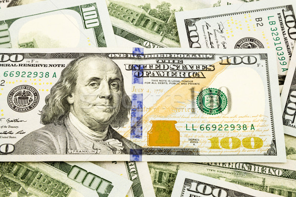 new edition 100 dollar banknotes, currency for invesment and ins Stock photo © vinnstock