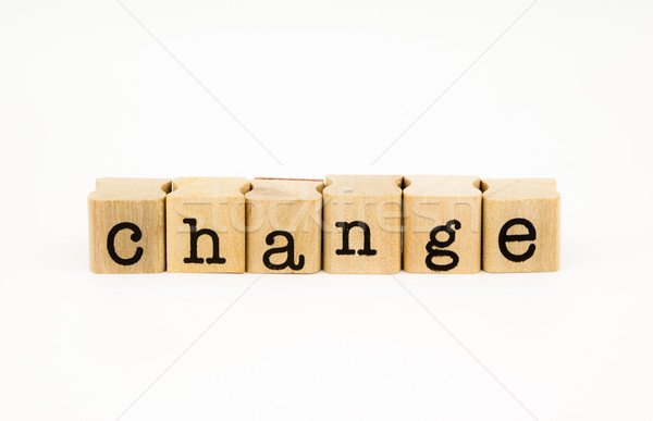change wording isolate on white background Stock photo © vinnstock