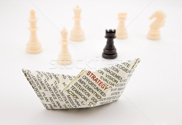 Strategii łodzi szachy działalności szkolenia koncepcje Zdjęcia stock © vinnstock