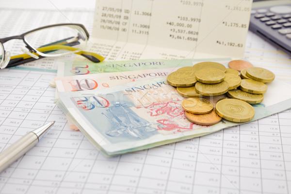 Valuta papier geld Singapore besparing rekening Stockfoto © vinnstock
