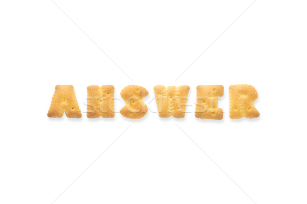 The Letter Word ANSWER. Alphabet  Cookie Biscuits Stock photo © vinnstock