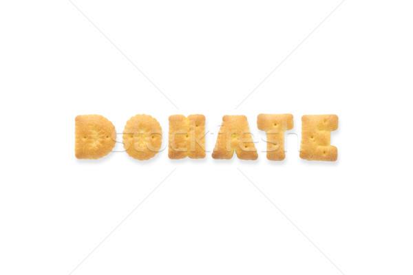 Levél szó adományoz ábécé süti kekszek Stock fotó © vinnstock