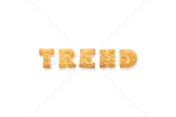 письме слово тенденция алфавит печенье коллаж Сток-фото © vinnstock