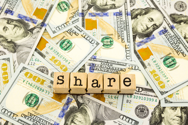 new edition 100 dollar banknotes, money for share and donation c Stock photo © vinnstock