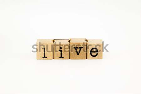 live wording isolate on white background Stock photo © vinnstock