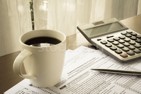 Imposto despesas negócio casa lugar escritório em casa Foto stock © vinnstock