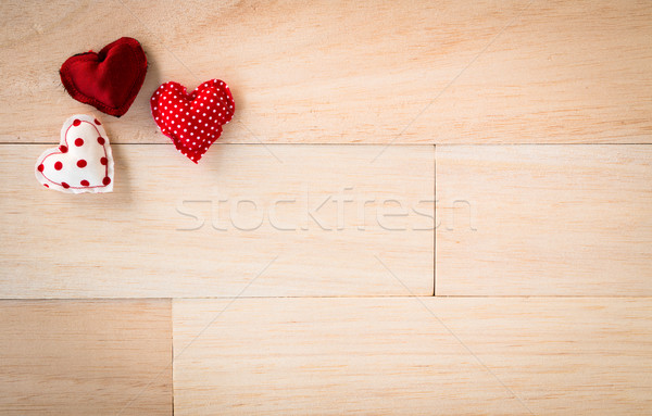 Love hearts sweet valentines and wood texture Stock photo © vinnstock