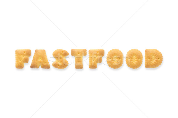 The Letter Word FASTFOOD Alphabet Biscuit Cracker Stock photo © vinnstock