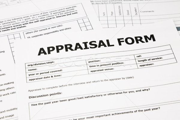 appraisal form and paperwork Stock photo © vinnstock