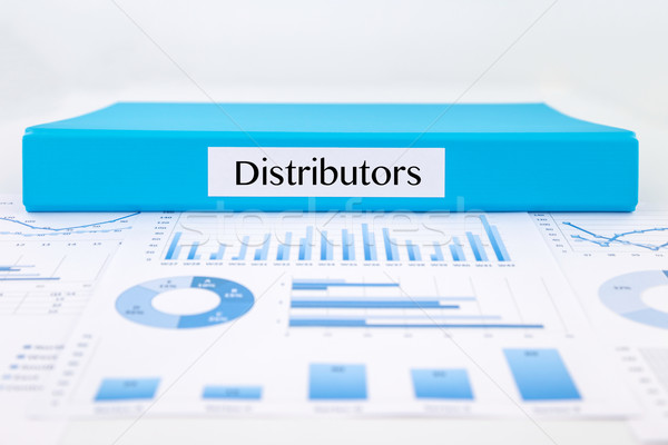 Distributor documents, graph analysis and marketing reports Stock photo © vinnstock