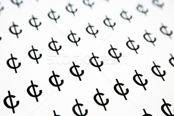 цент знак деньги символ шаблон черно белые Сток-фото © vinnstock
