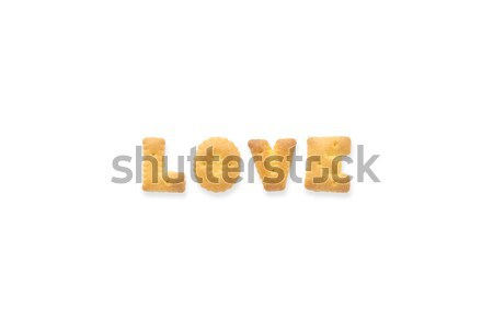 The Letter Word PAST Alphabet  Cookie Biscuits Stock photo © vinnstock