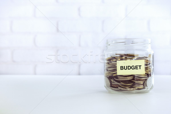 Bütçe para tasarruf bağbozumu stil madeni para Stok fotoğraf © vinnstock