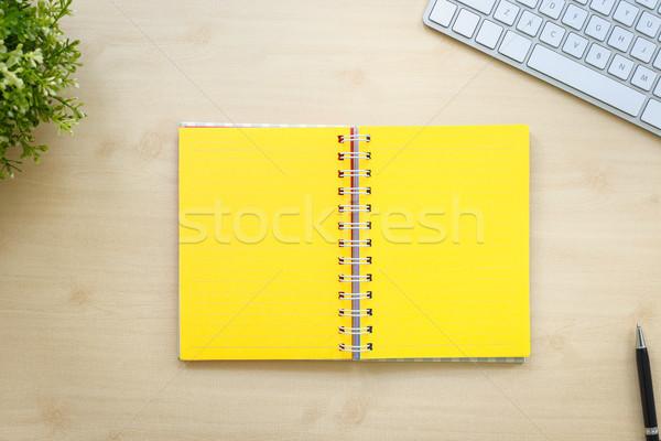 żółty otwarta księga minimalny stylu górę Zdjęcia stock © vinnstock