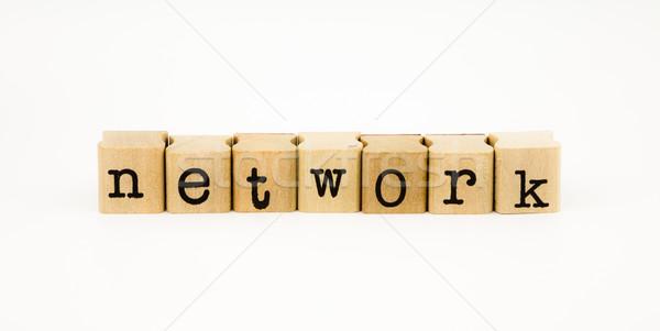 network wording isolate on white background Stock photo © vinnstock