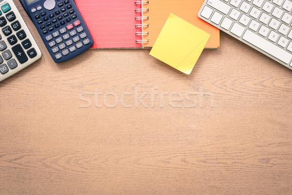 Asztal munka űr vázlat felső kilátás Stock fotó © vinnstock