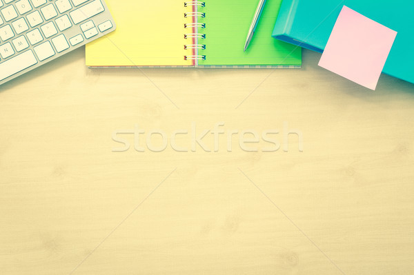 Top view office table mockup background.  Stock photo © vinnstock