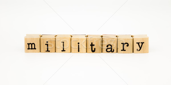 military wording isolate on white background Stock photo © vinnstock