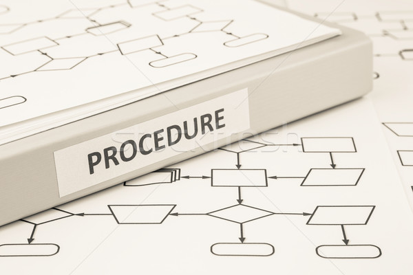 Procedure process concept for work instruction Stock photo © vinnstock