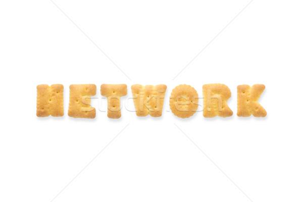 The Letter Word NETWORK. Alphabet  Cookie Cracker Stock photo © vinnstock