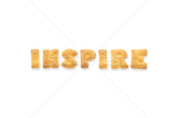 Carta palavra inspirar alfabeto bolinhos colagem Foto stock © vinnstock