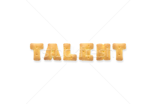 письме слово талант алфавит Cookie Печенье Сток-фото © vinnstock