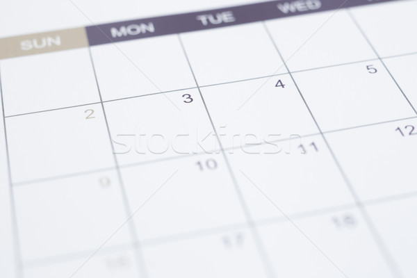 Blank calendar page business management with timetable. Stock photo © vinnstock